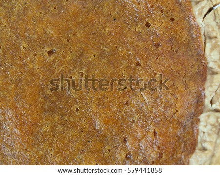 close up image of homemade sweet potato pie as a background image
