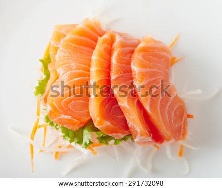 Close up japan style food sashimi from salmon - stock photo