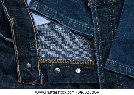 Close-up jeans fabric - stock photo