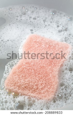 Close - up Kitchen utensil sponge