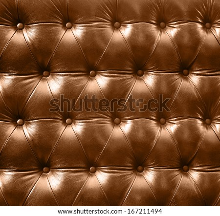 Close up luxury buttoned leather