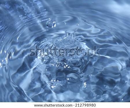 Close-up macro of a water drop droplet - stock photo