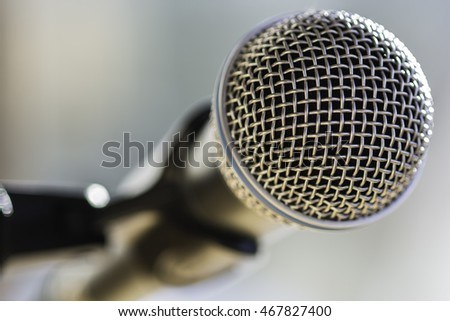 Close-up macro of microphone
