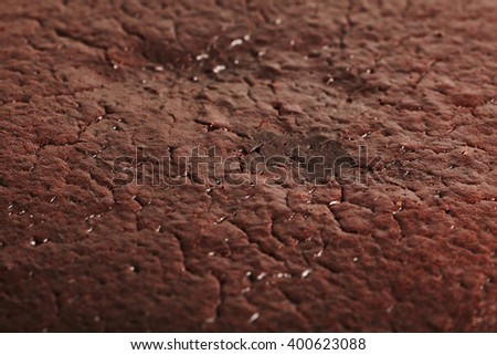 Close-up macro photograph of chocolate cake or brownie texture - stock photo