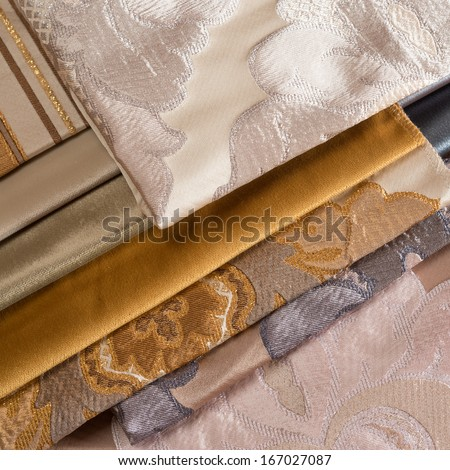 Close up macro shot of fabric texture background