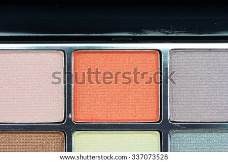 Close up make up collection - stock photo