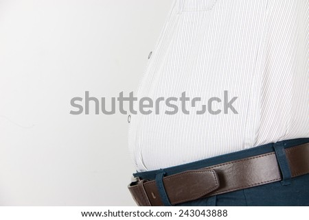 Close-up man's belly - stock photo