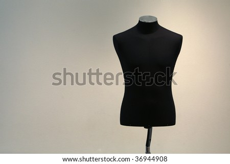 close-up mannequin on isolated - stock photo