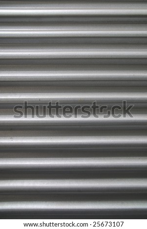 Close up metal wall background image. - stock photo
