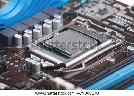close up motherboard computer