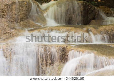 Close up multiple layer waterfalls