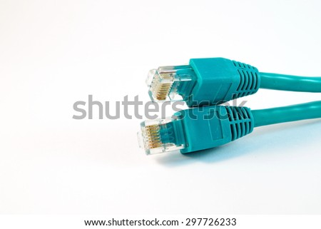 Close-up Network Cable on White Background