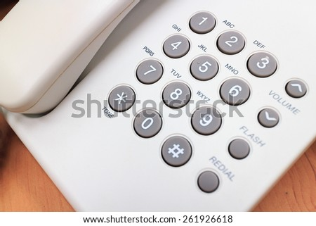 close up Numeric pad of a phone - stock photo