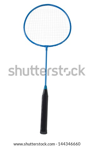 Close-up of a badminton racket
