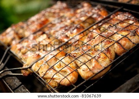 Close-up of a barbecue