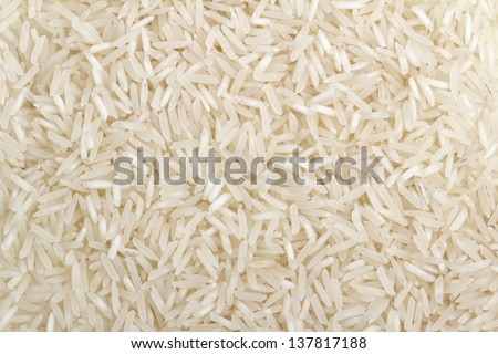 close up of a basmati rice background - stock photo