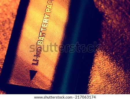 Close up of a battery pack - stock photo
