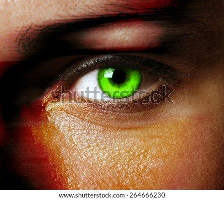 Close up of a beautiful eye - stock photo