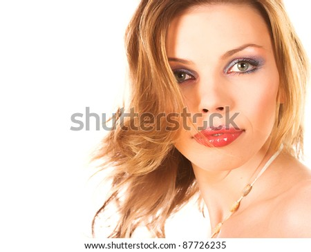Close-up of a beautiful face - stock photo