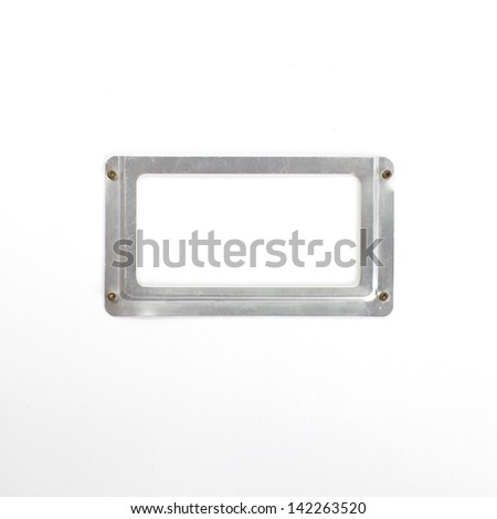 Close up of a blank , Label holder - stock photo