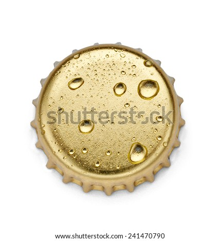 close up of  a bottle cap on white background - stock photo