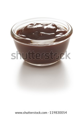 close up of a bowl of barbecue sauce - stock photo
