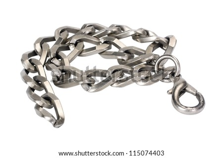 Close-up of a bracelet made from metal