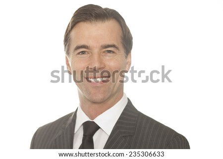 Close up Of A Businessman Isolated On White