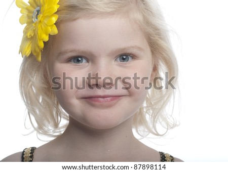 close up of a child smiling