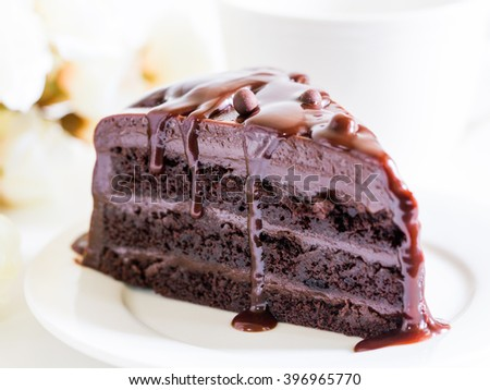 close up of a chocolate cake