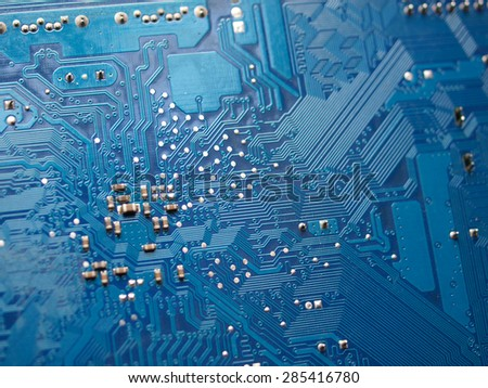 Close up of a circuit board,shallow depth of field - stock photo