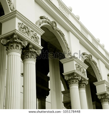 Close-up of a classical pillar - stock photo