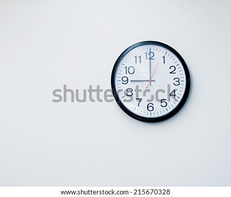 Close up of a clock isolated - stock photo