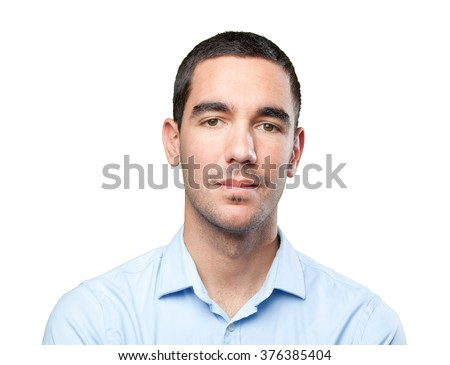 Close up of a confident young man - stock photo