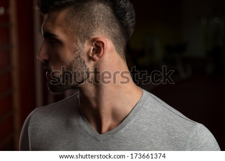 Close-up Of A Confident Young Man - Handsome Male Model