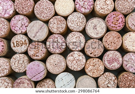 Close up of a cork wine background. Very shallow depth of field - stock photo