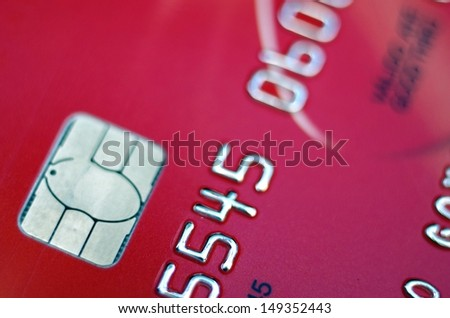 Close-up of a credit card with great colors