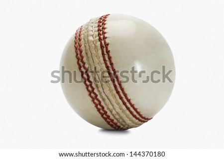 Close-up of a cricket ball - stock photo
