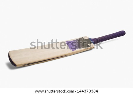 Close-up of a cricket bat - stock photo