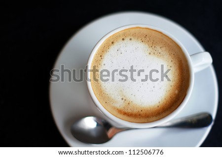 Close up of a cup of cappuccino