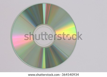 close-up of a data disc as DVD and Blue Ray CD - stock photo