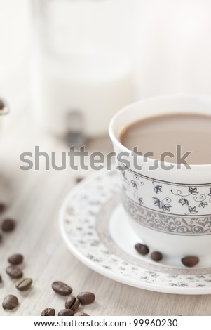 Close-up of a delicious cup of coffee