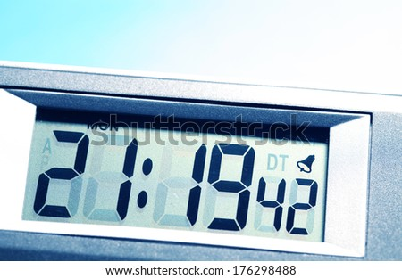 Close up of a Digital timer - stock photo