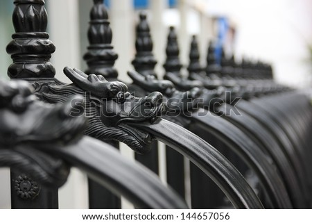 Close-up of a fence.