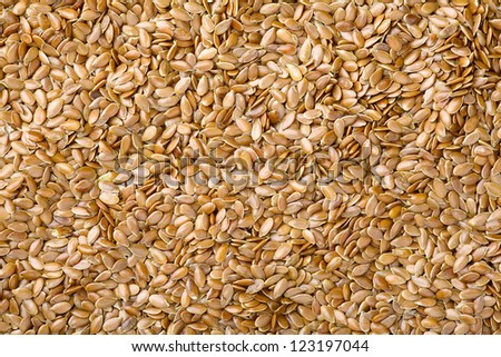 Close up of a flax seed as food background