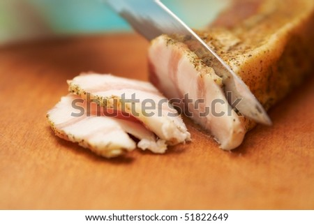 Close-up of a fresh delicious pork - stock photo