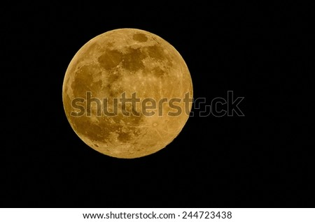 Close up of a full moon  - stock photo
