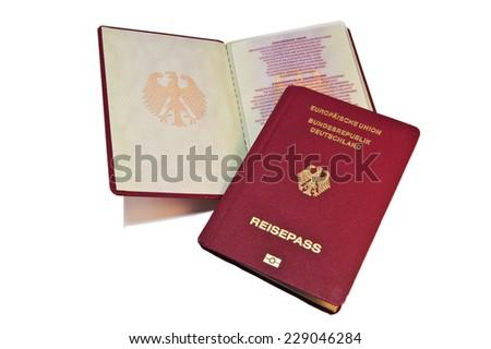Close-up of a German Passport  - stock photo