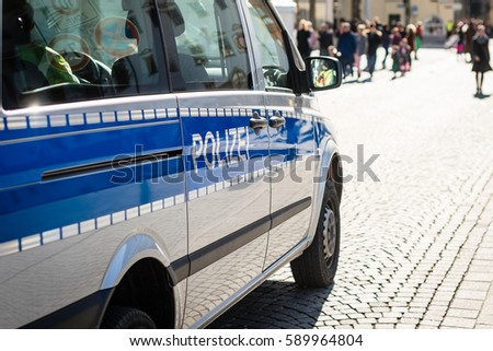 close up of a german police car