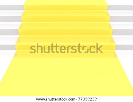 Close up of a gold stair - stock photo